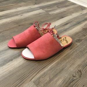 Sam Edelman Tai Coral Suede Sandals NWT size 8.5